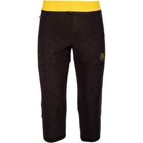 La Sportiva Arrow Leggings 3/4 Homme, black/yellow